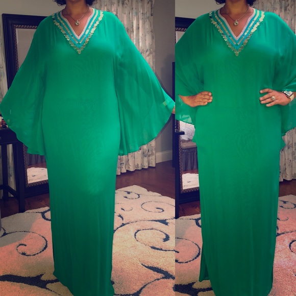 Catherine Malandrino Dresses & Skirts - Catherine Melandrino Green Dress - Sz XL